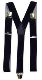 XXL Donkerblauwe bretels met extra sterke brede clips