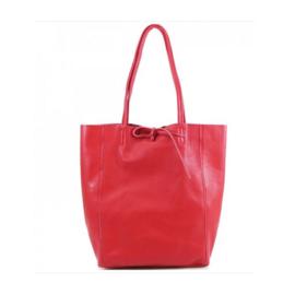 Rode Vera Pelle leren shopper