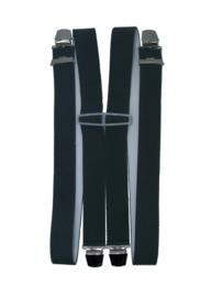 Grijze Bretels met 4 extra sterke clips