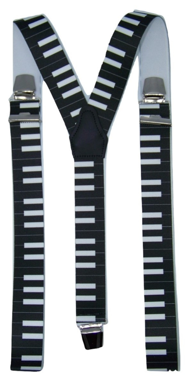 Bretels Piano (zwart) met extra sterke clips