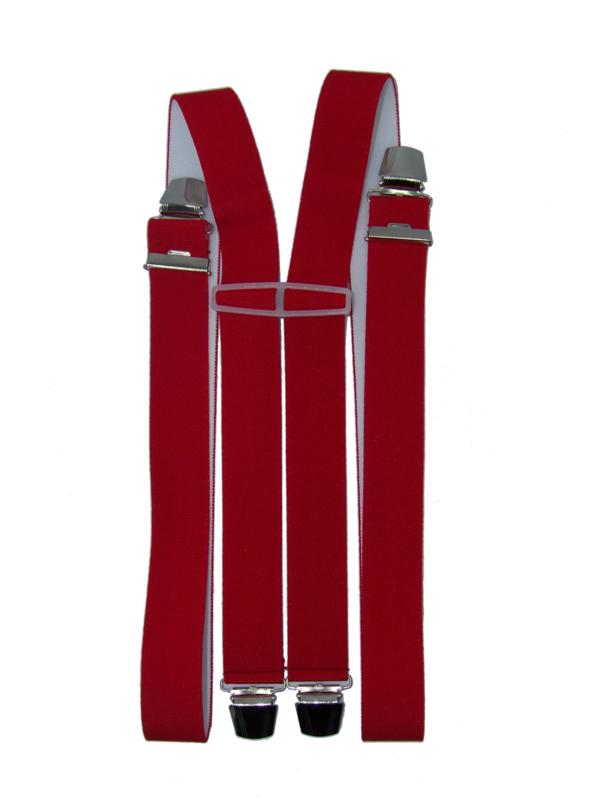 Rode Bretels met 4 extra sterke clips