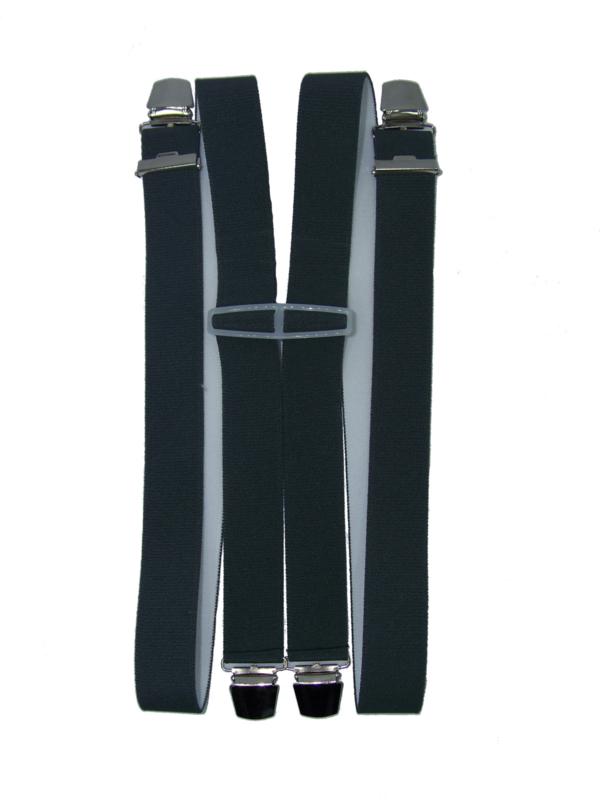 XXL Grijze Bretels met 4 extra sterke clips