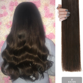 Hairweft color #2 donkerbruin  Raven