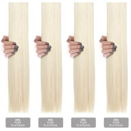 Hairextension color #60 A stijl