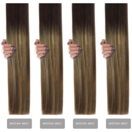 Hairextension color #Mocha Melt