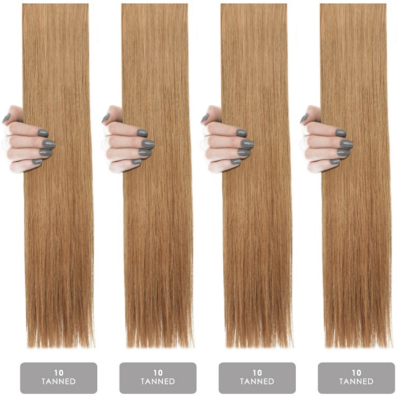 Hair weft krul/curly #10 Tanned Blonde