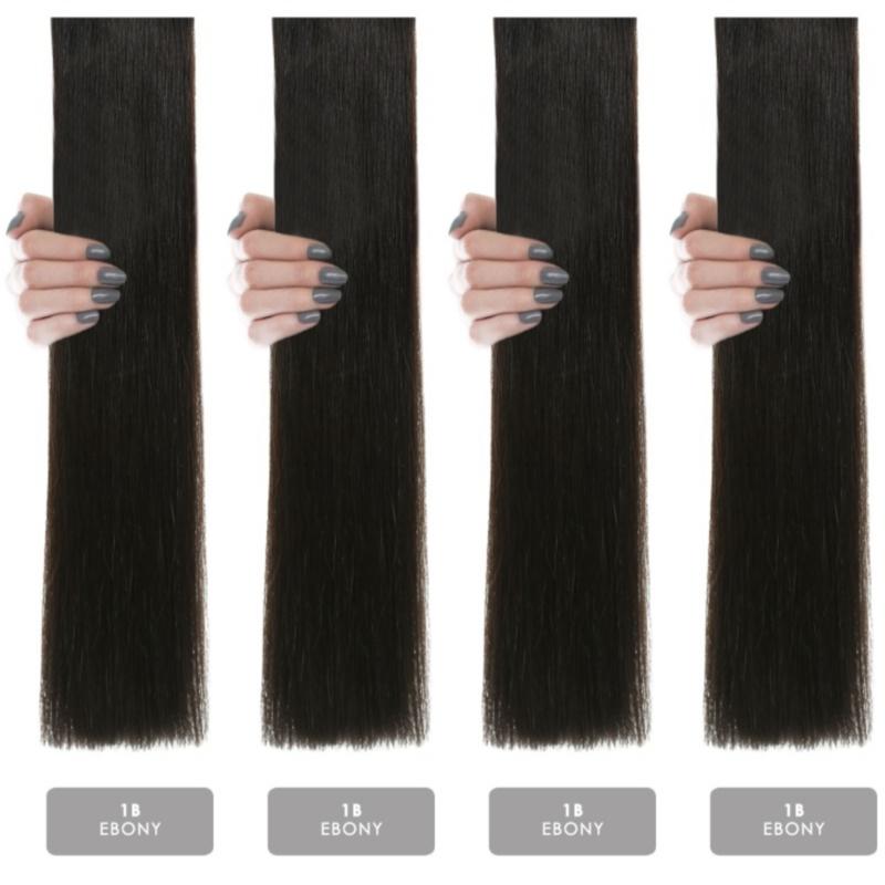 Hair weft krul/curly #1B