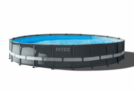 Intex Ultra XTR Frame zwembad 610 x 122 cm incl 6m3 zandfilterpomp en extra accessoires (26334GN)