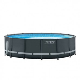 Intex Ultra Frame zwembad 488 x 122 cm met 4m3 zandfilterpomp en extra accessoires (26324GN)