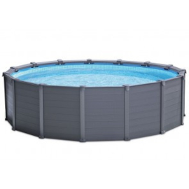 Intex Ultra Frame zwembad Graphite Panel 478 x 124 cm incl 4m3 zandfilterpomp en extra accessoires (26384GN)