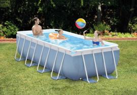 Intex Prism Frame 400 x 200 x 100 cm inclusief filterpomp en luxe zwembadtrap (26788GN)