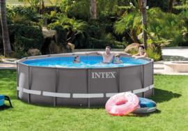 Intex ultra frame rond 427 x 107cm met filterpomp (26310GN) en extra accessoires