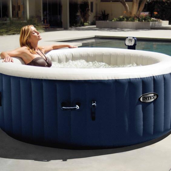 Intex Whirlpool  Bubble Massage Ø 196 cm-4 Pers mit integriertem Kalkschutzsystem (28406)