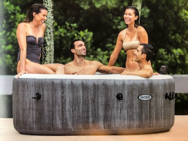 Intex PureSpa Bubble Greywood  luxe Ø 196cm 4 persoons-model