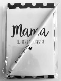 Lief cadeautje  ' Mama, jij bent de liefste '