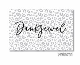 Mini kaartje  ' Dankjewel '