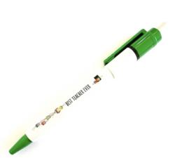 Best teacher ever gelukspoppetjes pen