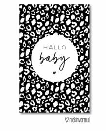 Mini kaartje  ' Hallo baby '