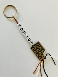 Sleutelhanger  ' Top juf '