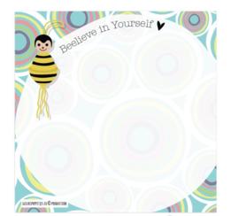Bee-lieve in yourself gelukspoppetjes notitieblokje
