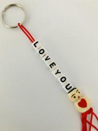 Sleutelhanger  ' Love you '