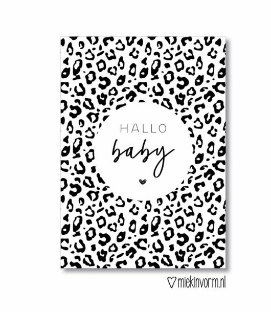 Ansichtkaart  ' Hallo baby '