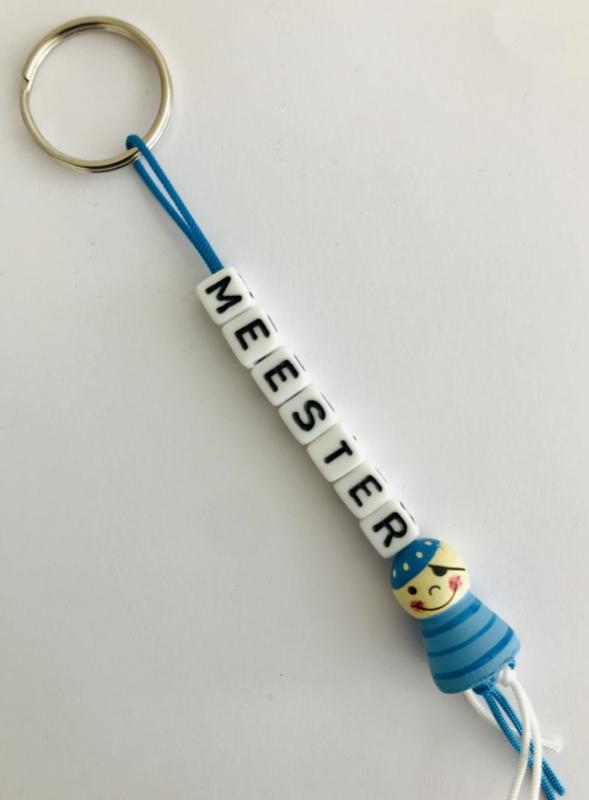 Sleutelhanger  ' Meester '