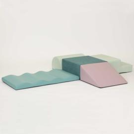 Kruipeiland medium, kunstleer  kleur naar keuze