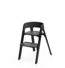 Stokke Steps Bundles Black Seat/Black oak Legs