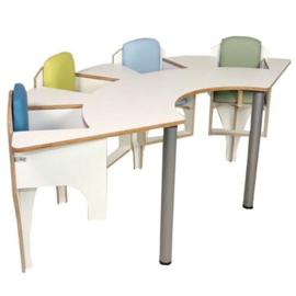 Vier zits babytafel