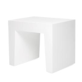 Concrete Seat White