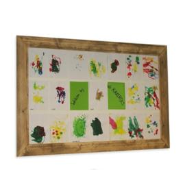 steigerhouten magneetbord of krijtbord