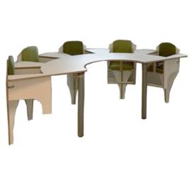 Vijf zits baby tafel