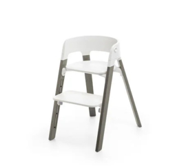 Stokke Steps Bundles White Seat/Hazy Grey Legs