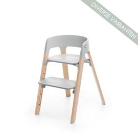 Stokke® Steps™ Seat grijs en Stoelpoten Beech Wood