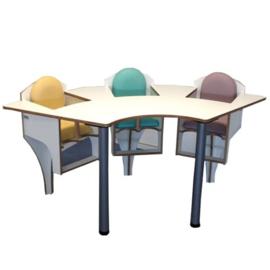Drie zits baby tafel