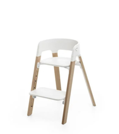 Stokke Steps Bundles White Seat/Oak Natural Legs
