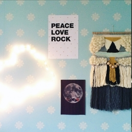POSTER 'PEACE-LOVE-ROCK'