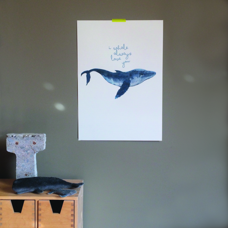 POSTER 'WHALE'