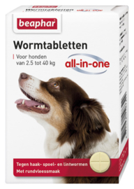 Wormtabletten All-In-One Hond 2,5 - 40 kg