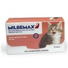 Milbemax filmomhulde tabletten voor kleine katten en kittens