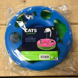 Kattenspeelgoed cirkel blauw