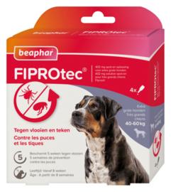 Fiprotec Spot-On hond 40-60 kg 4 pipetten