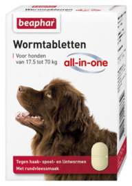 Wormtabletten All-In-One Hond 17,5 - 70 kg