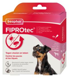 Fiprotec Spot-On hond 2-10 kg 4 pipetten