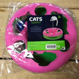 Kattenspeelgoed cirkel roze