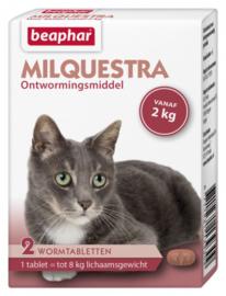Milquestra Wormtabletten kat 2 tabletten