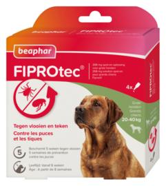 Fiprotec Spot-On hond 20-40 kg 4 pipetten