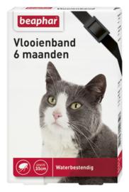 Vlooienband kat zwart 1st