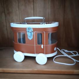 speelkoffertje bruine tram